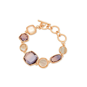 Natalia Link Bracelet Gold Dusted Pink Illusion
