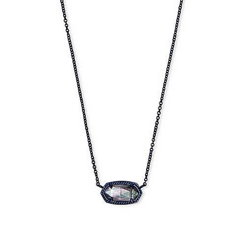 Elisa Necklace Navy Gunmetal Illusion