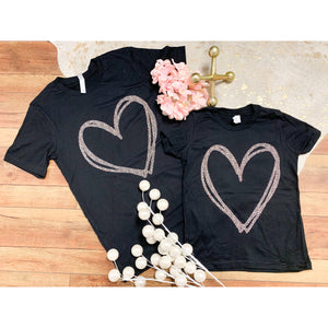 Kids Leopard Heart Tee