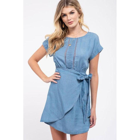 You're All I Need Chambray Dress