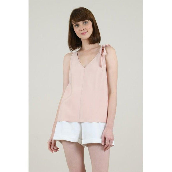 Light Pink Bow Detail Top