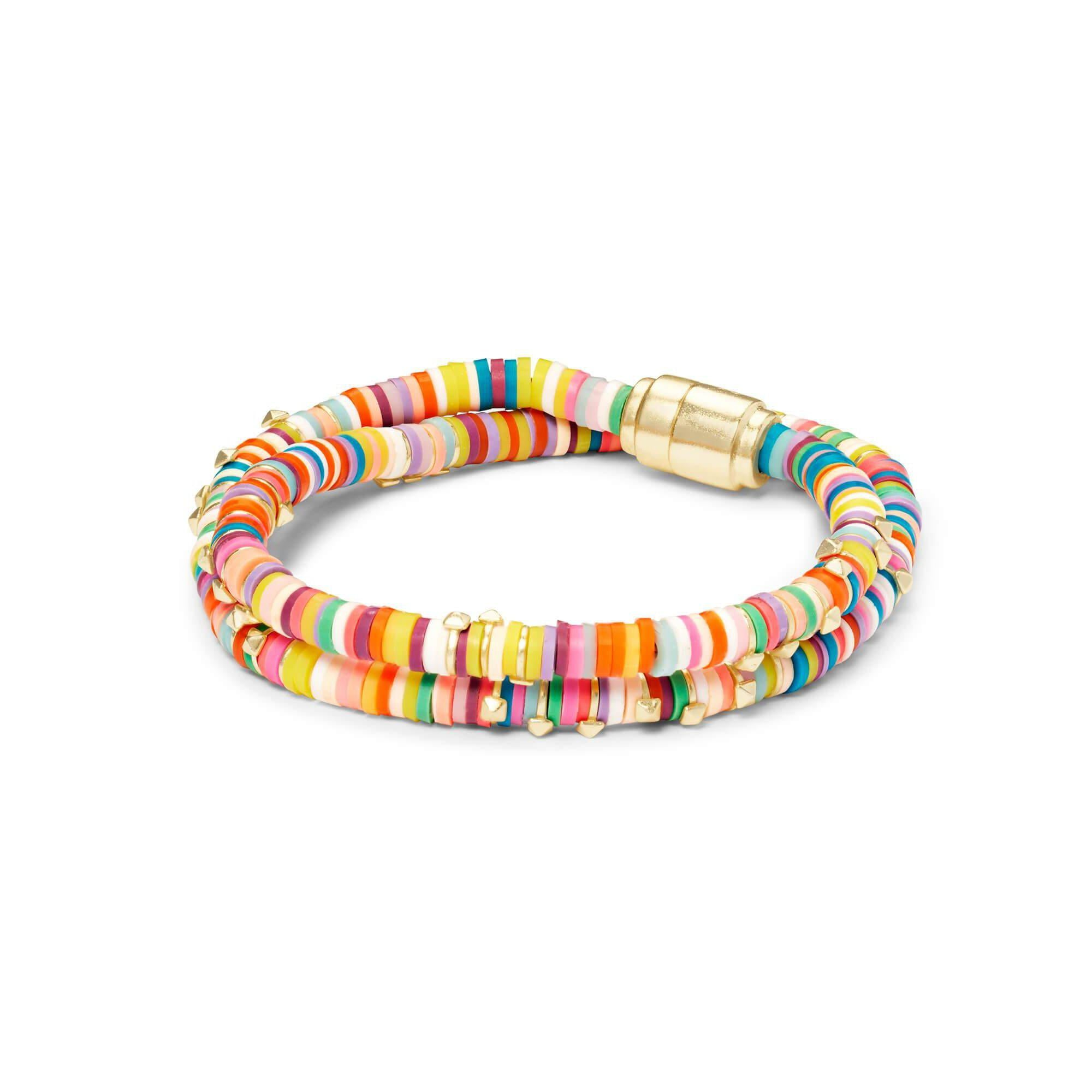 Reece Wrap Bracelet in Gold Multi Mix