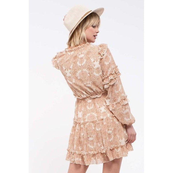 Paisley Ruffle Tiered Dress