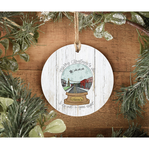 PREORDER Snow Globe Whitesburg Ornament