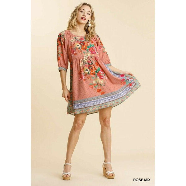 Rose Mix Babydoll Dress