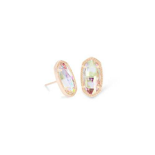 Kendra Scott Ellie Rose Gold Dichroic Earrings