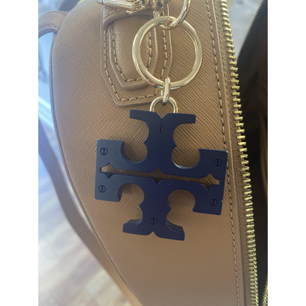 Tory Burch York Zip Backpack with Logo Keychain