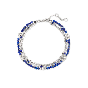Rhodium Blue Lapis