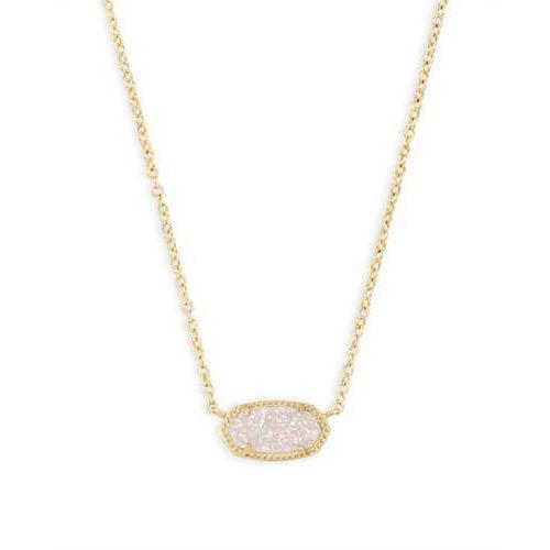 KS Elisa Necklace Iridescent Gold druzy