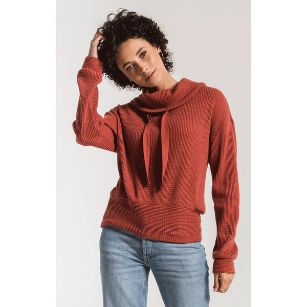 The Cowl Neck Thermal Top