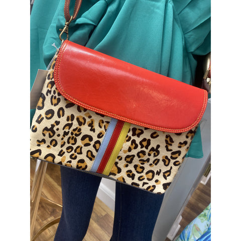 Isla Leather Crossbody Red