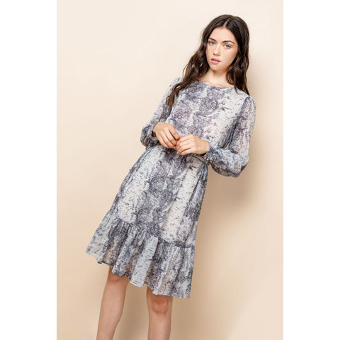 Attention Seeker Snake Print Dress