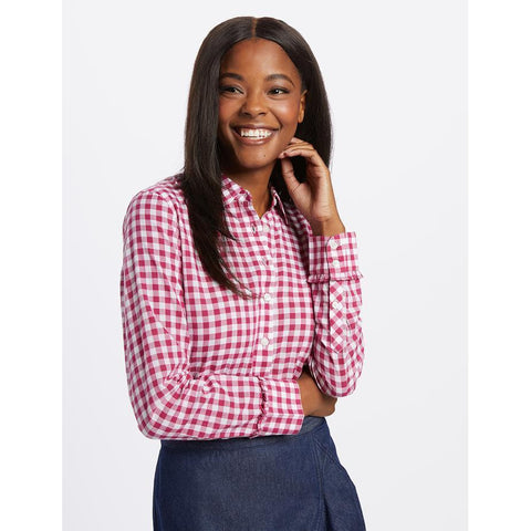 Berry Gingham Shirt