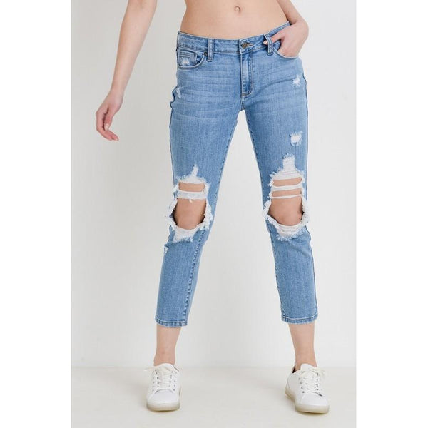 Charlotte Distressed Boyfriend Denim