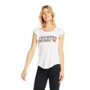 Country Music Ruffle Top