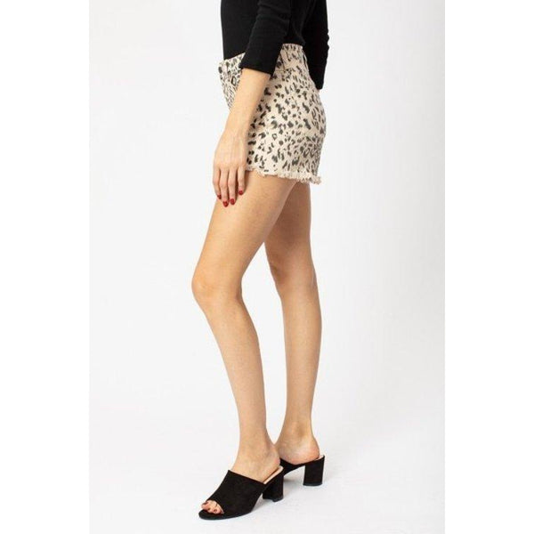 High Rise Leopard Shorts