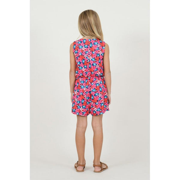 Kid's Firework Floral Playsuit