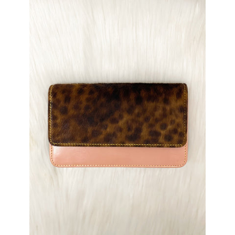 Nova Leather Wallet Rose Pink/Animal Print