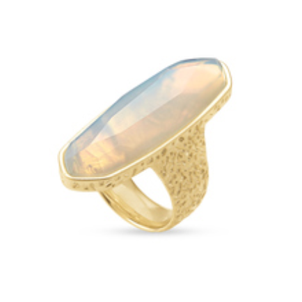 layla cocktail ring gold opalite illusion 8