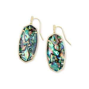 Faceted Elle Earring in Gold Abalone Shell