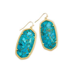 KS Elle Earrings in Bronze Veined Turquoise