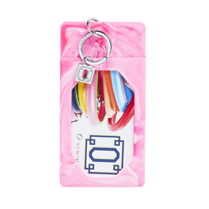 O-Venture Silicone Tickled Pink Marble ID Case