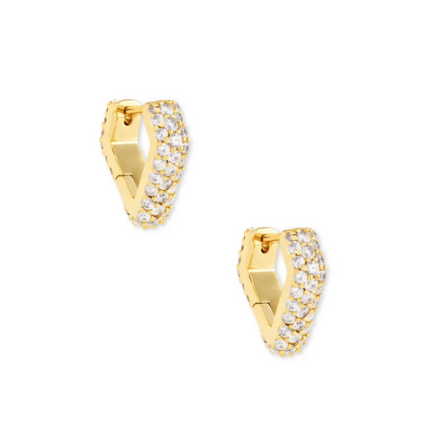 Demi Huggie Earrings In Gold