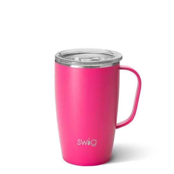 Swig 18oz Matte Hot Pink Mug