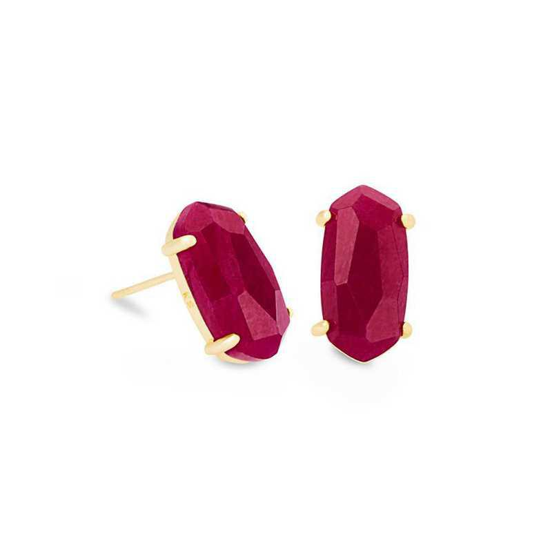 KS Betty Earrings in Maroon Jade Gold