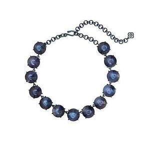 Jolie Statement Necklace Navy Indigo Illusion