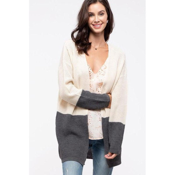 Salt & Pepper Colorblock Cardigan
