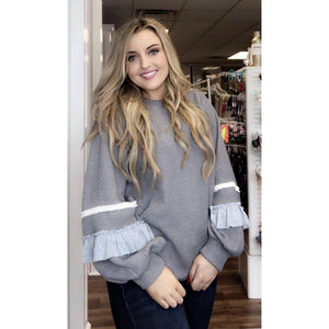 Tori 's Favorite Ruffle Sweater