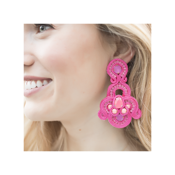 Brenda Pink Earrings