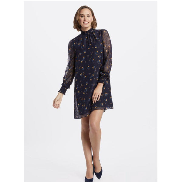 Floral Swiss Dot Dress