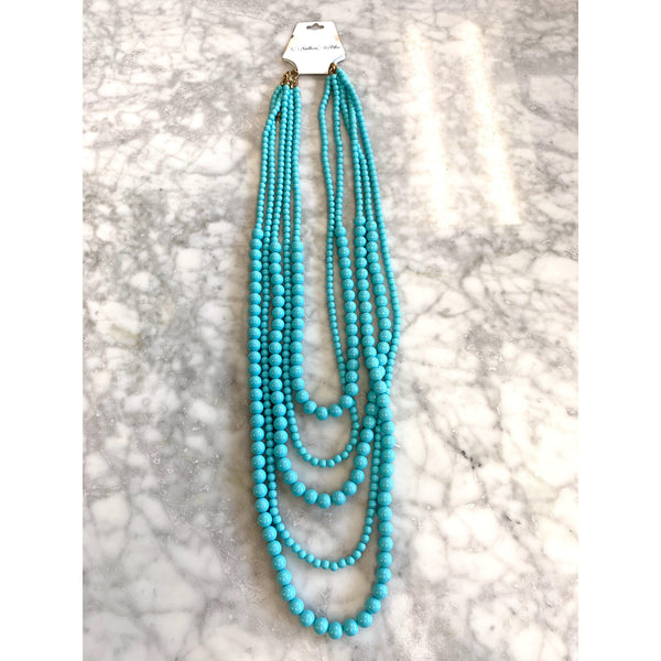 Erimish Turquoise Beaded Necklace