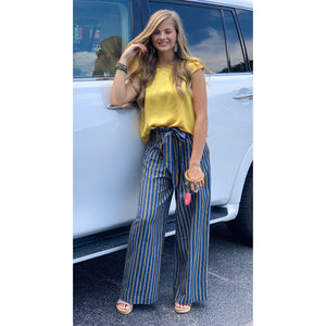 Hint Of Gold Striped Pants