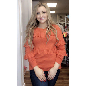 Vibrant Ruffle Sweater