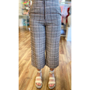 Plaid Zip Up Pants