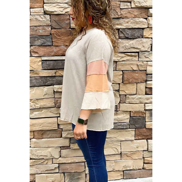 Sweet Sunset Colorblock Top