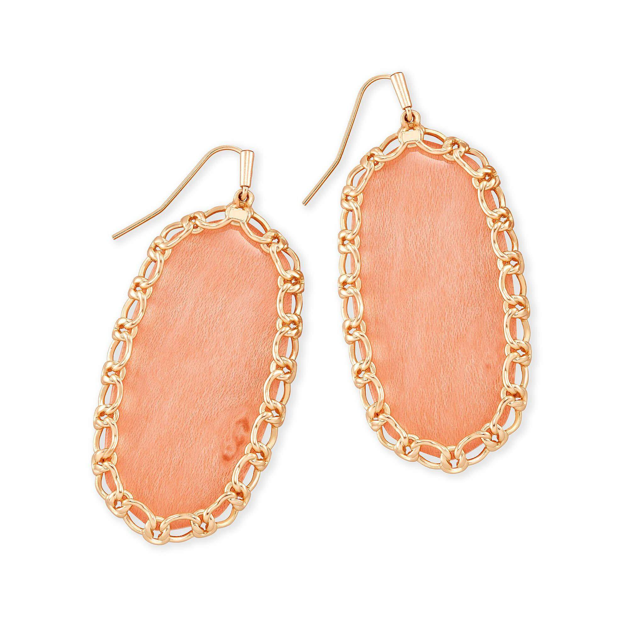 Macrame Danielle Earring in Rsg Blush Wood