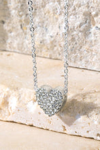 RHINESTONE HEART CHARM NECKLACE