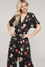 BLACK FLORAL JUMPSUIT IN PLUS