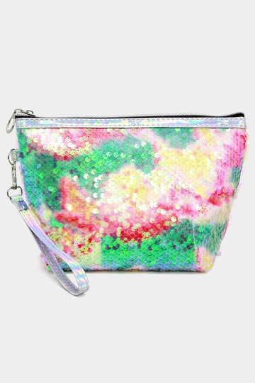 GLITTER SEQUIN COSMETIC BAG