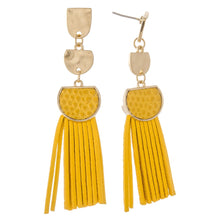 METAL TASSEL DROP EARRINGS