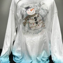 SNOWMAN DISTRESSED TOP