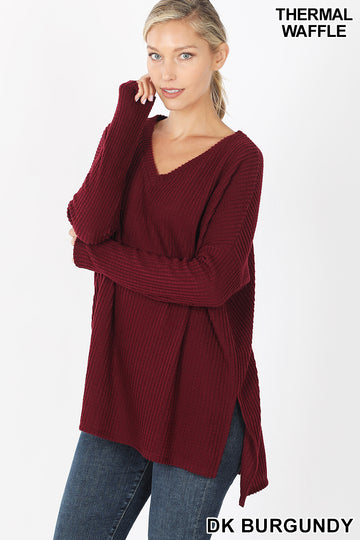 WINTER CHEER WAFFLE KNIT SWEATER