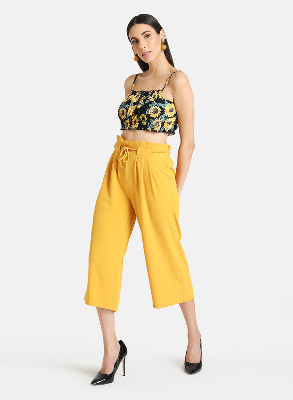 CULOTTES WITH FRONT PLEATS