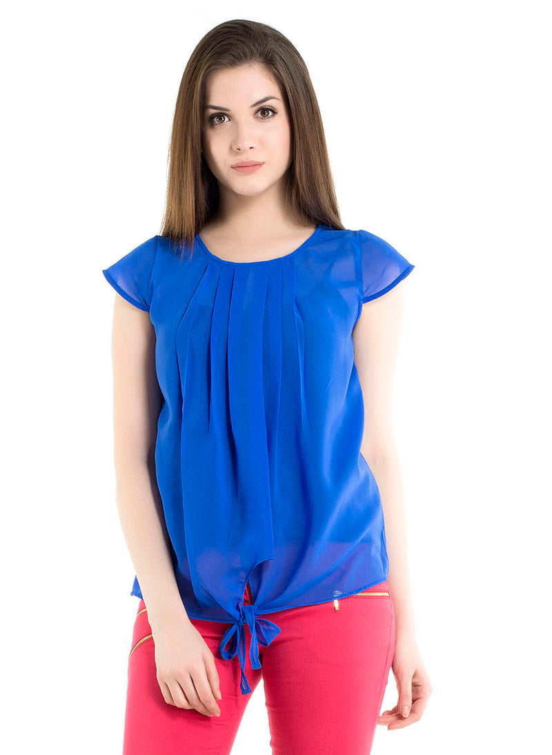 Top With Pleats And Self Tie