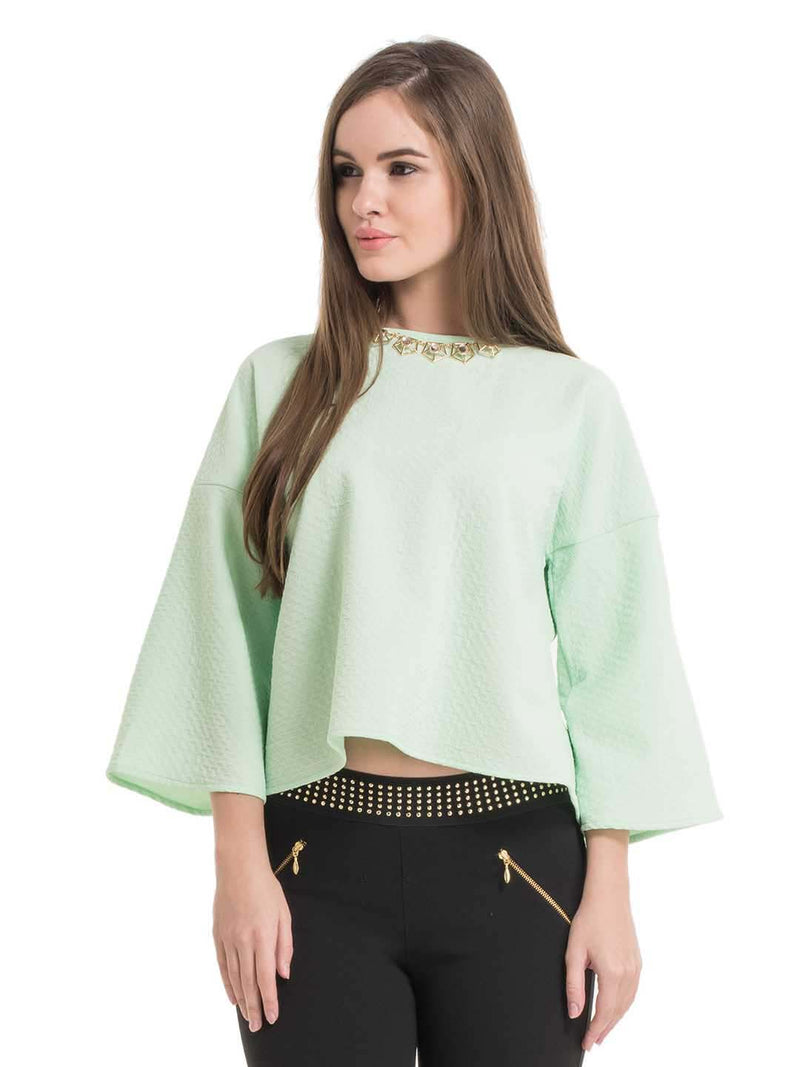 Sanny Neck Embellished Top