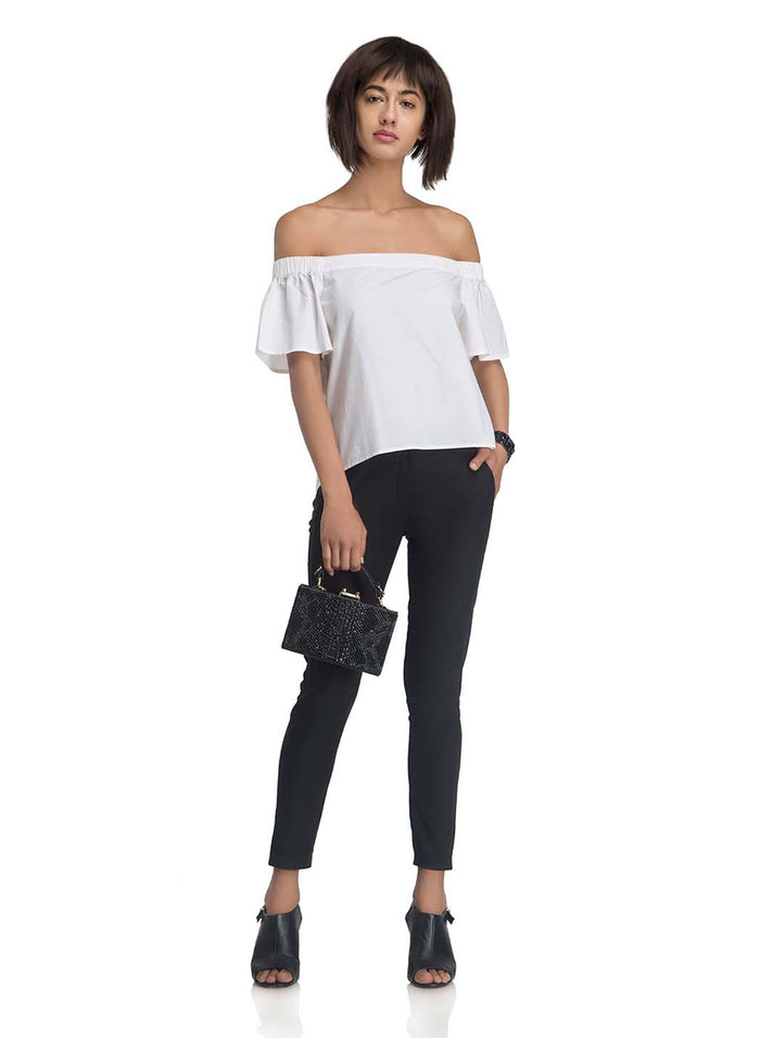 Off-Shoulder Top With Back Tie (Buy 2 Get Extra 30% Off)